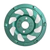 WEFEX Diamant-Schleifteller PKD-Star 6 Segmente 125 mm Bauhöhe 22 mm Aufnahme 22,2 mm Beton Asphalt Estrich Kleber Epoxidharz Farbe