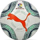 PUMA LaLiga 1 Hybrid Balón de Fútbol, Adultos Unisex, White-Green Glimmer-Nrgy Red,...