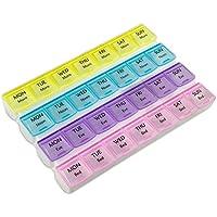 Preisvergleich für Wöchentliche Pillendose mit 28 Fächern von MEDca