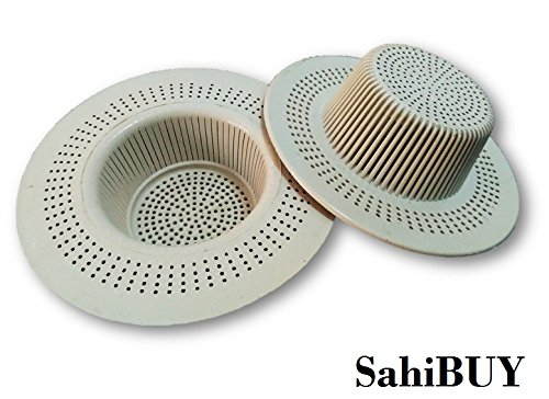 SahiBUY Pack of 02 Kitchen Waste Filter Sink PVC Cup to Avoid Clogging of Strainer