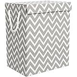 Mayspring cesta de la colada, de Tejido, plegable, resistente, plegable, cesto para colada, decorativo, plegable, para ropa, hermoso y de calidad superior