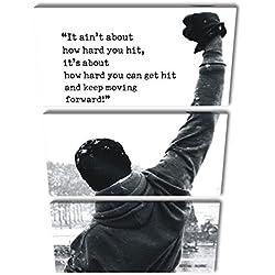 Pósters originales con frases de motivación para los amantes de Rocky Balboa. Una de las películas más motivadoras de la historia del cine, un relato que emociona.