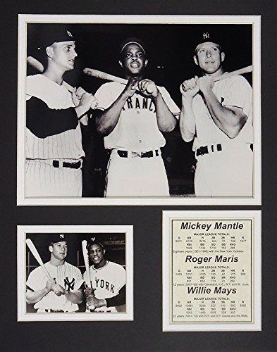 Mickey Mantle, Roger Maris & Willie Einer 27,9x 35,6cm ungerahmt mattierte Foto Collage von Legenden Sterben Nie, Inc. - Mickey Mantle Yankees