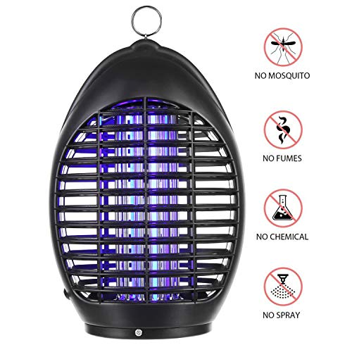 amaes Tueur Lampe, Piège à, UV LED Répulsif, sans Radiation, pour Maison, Bureau, Camping, et Extérieur(avec Crochet)