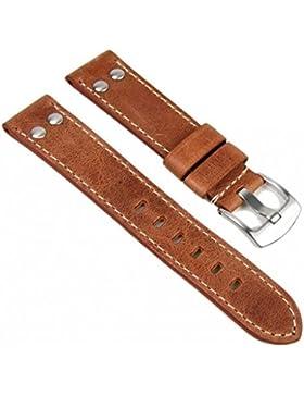 Minott Ersatzband Uhrenarmband Vintage Look Leder Band 22mm 757