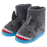 MIXIN Kids Slipper Booties Comfy Fur Anti Slip House Slippers