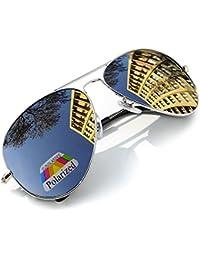 4sold Klassische Pilotenbrille Unisex Polarisierte Sonnenbrille Fliegerbrille Pornobrille in vielen Farbkombinationen