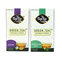 Jasmin & Moroccan Mint Green Tea Pack of 2, Blends of DARJEELING & Assam Green Tea Naturally Healthy Tea Leaves with NO Added PRESEVATIVES NO Artificial Flavour