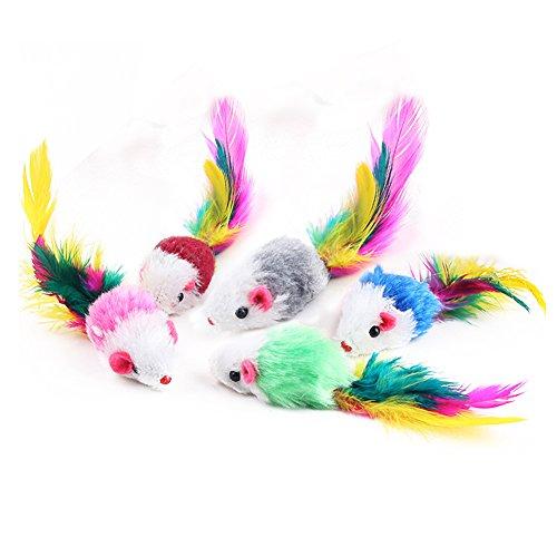 5 Pack coloré drôle souris petite souris queue chat...