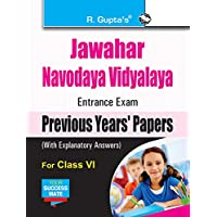 Jawahar Navodaya Vidyalaya (JNV) Entrance Exam (Class VI): Previous Years Papers (Solved) (Class VI, Solved)