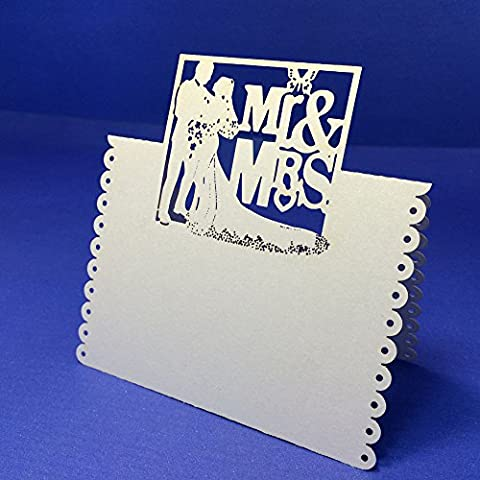sypure (TM) 100pcs/pack Romantic White Mr Mrs table Mark Name Place Card Wedding Decoration Event Party Supplies