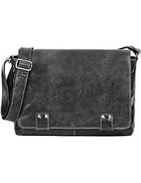 REBELS & LEGENDS, Cntmp, Unisex - Leder Messengerbags, Business-Bags, Aktentaschen, Handtaschen, Schultertaschen, Umhängetaschen, DIN-A4, 36x30x8cm (B x H x T)