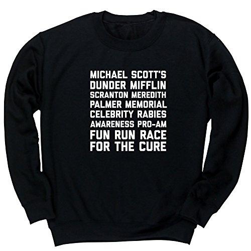 Hippowarehouse Michael Scott's Dunder Mifflin Scranton Meredith Palmer Memorial Celebrity Rabies Awareness Unisex Jumper Sweatshirt Pullover (Specific Size Guide in Description)