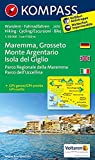 Maremma - Grosseto - Monte Argentario - Isola del Giglio - Parco Regionale della Maremma - Parco dell' Uccellina: Wanderkarte mit Radtouren. GPS-genau. 1:50000 (KOMPASS-Wanderkarten, Band 2470)
