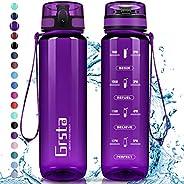 Grsta Botella Agua - Botella de Agua Deportes 350ml/500ml/800ml/1L/1.5L Botella Deportiva Tritan de Plástico S