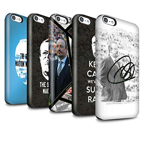 Officiel Newcastle United FC Coque / Brillant Robuste Antichoc Etui pour Apple iPhone 5C / Pack 8pcs Design / NUFC Rafa Benítez Collection Pack 8pcs