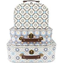 Sass and Belle by RJB Stone–Maleta, Trolley–Set de 3valisettes mosaicos Mediterraneenne