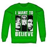 The X Files Offizielles Lizenzprodukt Mulder & Scully Sweatshirt (Grün) X-Large