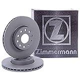 2x ORIGINAL ZIMMERMANN Bremsscheibe Satz Bremsscheiben Belüftet Ø280 Vorne