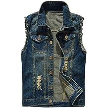semen Herren Weste Ärmellose Jeansjacke Slim Fit Beiläufige Cowboy Jeansweste Denim Slim Fit Jeans Weste Outwear Demin Outfit