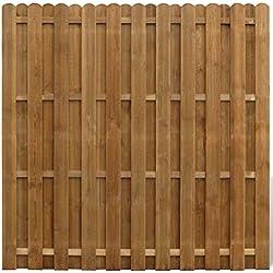 vidaXL Panneau de Clôture avec Planches Intercalées Bois FSC Clôture de Jardin