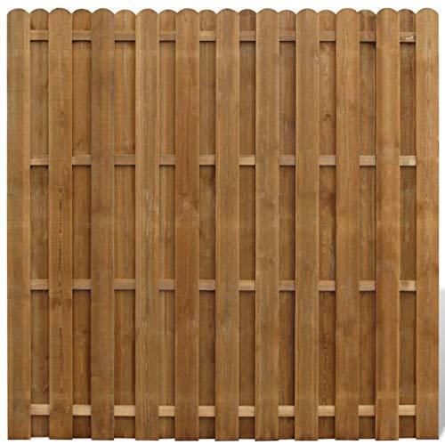 vidaXL Panel de Valla Cuadrado Jardín Madera Marrón FSC 180x180cm Pared Cerca