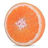 HYSEAS Cojín para silla de espuma, con diseño 3D, de impresión digital, decoración para el hogar, Fruta naranja