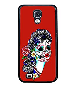 Fuson Designer Back Case Cover for Samsung Galaxy S4 I9500 :: Samsung I9500 Galaxy S4 :: Samsung I9505 Galaxy S4 :: Samsung Galaxy S4 Value Edition I9515 I9505G (Body Art Attractive Face Curly Hair)