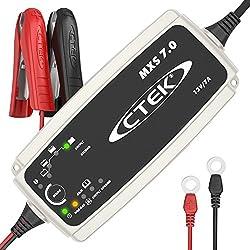 CTEK MXS 7.0 Chargeur de batterie entièrement automatique (Charge, maintient et reconditionne les batteries auto, roulotte, camping-car) 12V, 7 Amp - prise EU