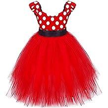 iiniim Niña Vestido De Princess Tutú De Lunares Vestido De Dama De Honor Boda Vestido De Fiesta De Cumpleaños Para Las Niñas 1-6 Años
