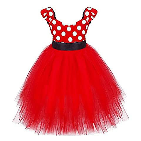 Minnie Mouse Costume Tutu - TiaoBug Bébé Fille Enfant Robe de Tutu