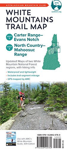 Country Map Trail North (AMC White Mountains Trail Maps 5-6: Carter Range-Evans Notch and North Country-Mahoosuc)