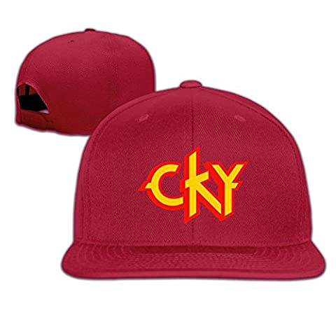 Huseki CKY Heavy Metal Band Logo Bam Margera Custom Men's Ball Caps Red