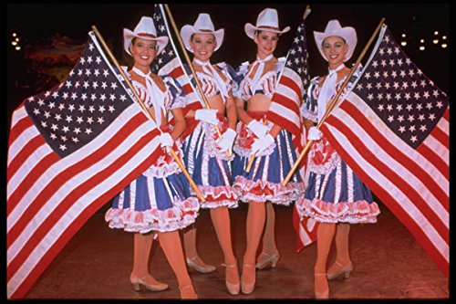 614035 Dance Troupe Stars And Stripes Orlando Florida A4 Photo Poster Print 10x8 - Libby Stripe