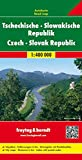 Tschechische - Slowakische Republik, Autokarte 1:400.000: Wegenkaart 1:400 000 (freytag & berndt Auto + Freizeitkarten) -