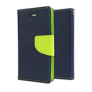 Nosson Imported Fancy Wallet Dairy Flip Case Cover For Samsung Galaxy J1 - (Blue Green)