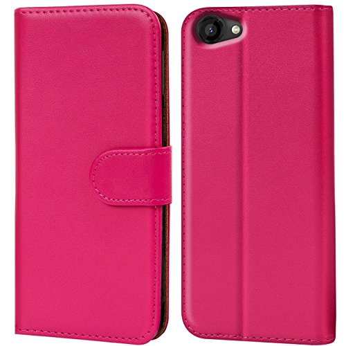Verco Rainbow Jam Hülle, Handyhülle für Wiko Rainbow Jam Tasche PU Leder Flip Case Brieftasche - Pink