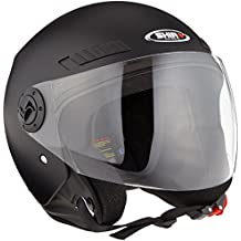Shiro Casco Jet, sh62, GS, color negro mate, tamaño XS