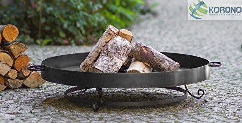 flache Feuerschale Feuer Schale, 3 Beine, verschiedene Durchmesser Höhe 20 cm, Durchmesser in cm:80 cm