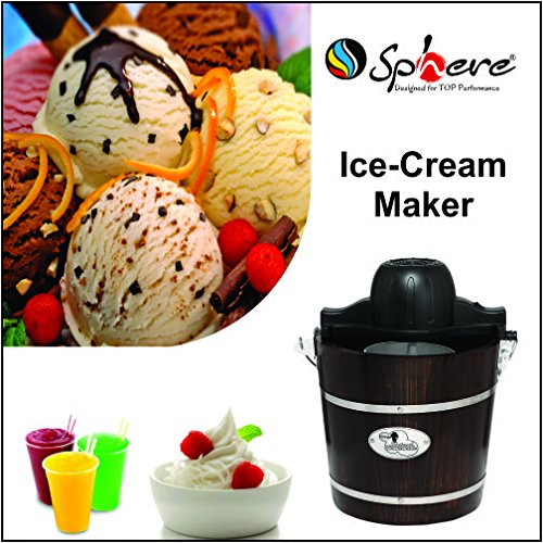 Sphere HM-6508 250-Watt Ice Cream Maker (Brown)