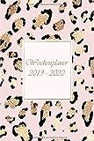 Wochenplaner 2019-2020: Modernes Cover Design in rosa Leopard, Oktober 2019 bis Dezember 2020, Wochen- und Monatsplaner, 1 Woche auf 2 Seiten, Kalender 15x21 cm - Emy-Planer