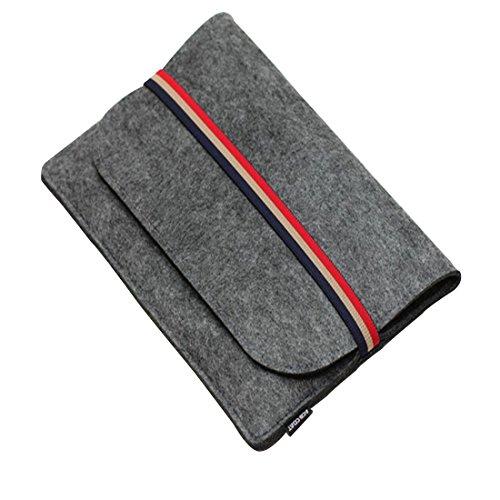 GWELL Laptophülle Set Filz Sleeve Hülle für 11-15 Zoll Macbook Air/ Pro iPad Schutzhülle Laptoptasche Ultrabook Notebook dunkelgrau 11.6'