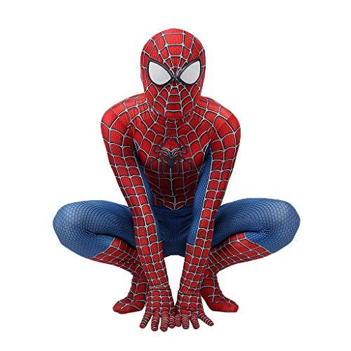 Peter Parker Spider-Man Kostüm Spiderman Kostüm Cosplay Zentai Kostüm Erwachsene Halloween Kostüm Party Film Kostüm Requisiten,Peter Parker Spiderman- 145~150cm ()