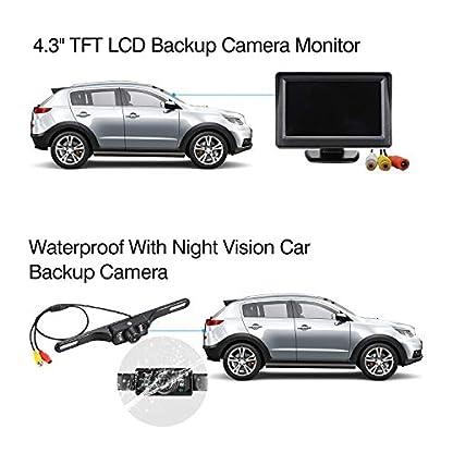 Excelvan-Wireless-Rckfahrkamera-mit-Monitor-IP68-Wasserdichte-AutoKamera-fr-Einparkhilfe-Rckfahrhilfe-mit-Stabiler-Signalbertragung-43-TFT-LCD-Rckansicht-Bildschirm