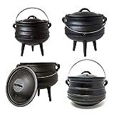 Big-BBQ Potjie | Südafrikanischer Gusseisen Koch-Topf | Alternative zum Dutch-Oven | verschiedene Größen zur Auswahl