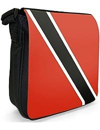 Trinidad And Tobago Flag Small Black Canvas Shoulder Bag / Handbag