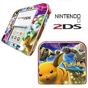 Sticker en vinyle pour Nintendo 2DS Bleu Pokemon Pikachu Skin en vinyle pour console dans un Retail Pack Lot. Prêt pour rapide 1ère classe UK Post.