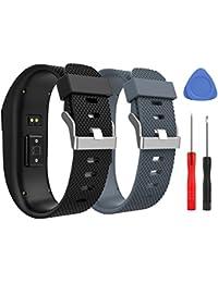 MoKo Correa para Fitbit Charge HR, [2 Pack] Pulsera de Goma para Fitbit