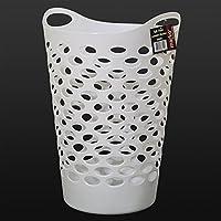 Marko Homewares Plastic Laundry Basket Storage Flexible Flexi Tall 5 Colour Clothing Washing Bag (White)