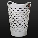 517uqaVMwCL. SL160  - BEST BUY# Marko Homewares Plastic Laundry Basket Storage Flexible Flexi Tall 5 Colour Clothing Washing Bag (White) Reviews